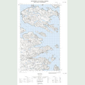 Canadian Topo Map - Batteau - Map 003E05W