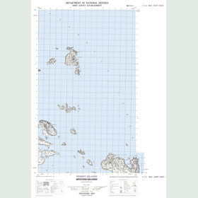 Canadian Topo Map - Ferret Islands - Map 003E12
