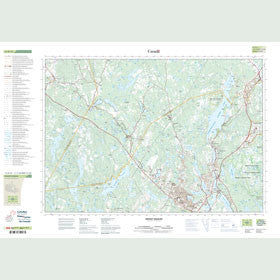 Canadian Topo Map - Mount Uniacke - Map 011D13