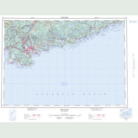 Canadian Topo Map - Halifax - Map 011D