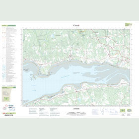 Canadian Topo Map - Bass River - Map 011E05