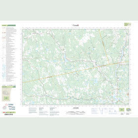 Canadian Topo Map - Lochaber - Map 011E08