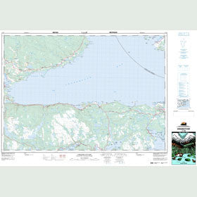Canadian Topo Map - Chedabucto Bay - Map 011F06