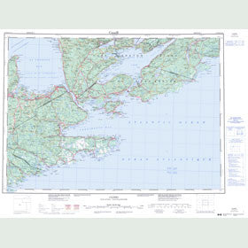 Canadian Topo Map - Canso - Map 011F
