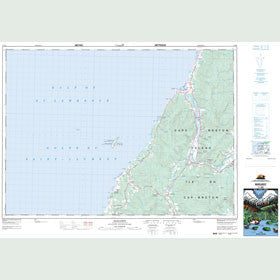 Canadian Topo Map - Margaree - Map 011K06
