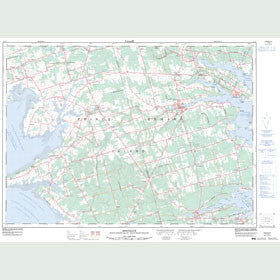 Canadian Topo Map - Montague - Map 011L02