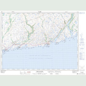 Canadian Topo Map - Rose Blanche - Map 011O10
