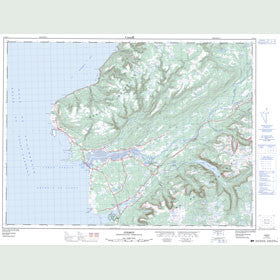 Canadian Topo Map - Codroy - Map 011O14