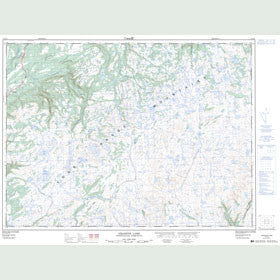 Canadian Topo Map - Grandys Lake - Map 011O15