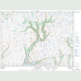 Canadian Topo Map - La Poile River - Map 011O16