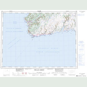 Canadian Topo Map - Port aux Basques - Map 011O