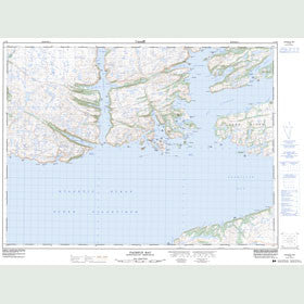 Canadian Topo Map - Facheux Bay - Map 011P09