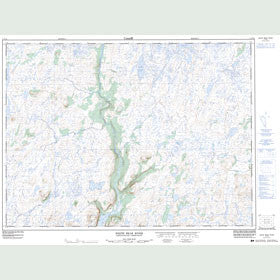 Canadian Topo Map - White Bear River - Map 011P14