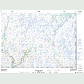 Canadian Topo Map - Dolland Brook - Map 011P15