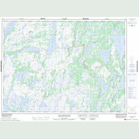 Canadian Topo Map - Cold Spring Pond - Map 012A01