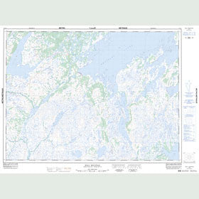 Canadian Topo Map - Wolf Mountain - Map 012A02