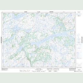 Canadian Topo Map - Burnt Pond - Map 012A03