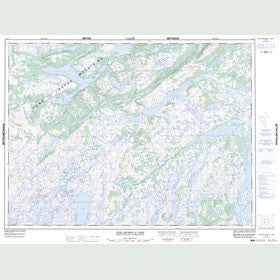 Canadian Topo Map - King George Iv Lake - Map 012A04