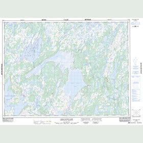 Canadian Topo Map - Great Burnt Lake - Map 012A08