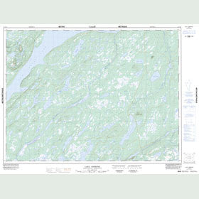 Canadian Topo Map - Lake Ambrose - Map 012A10