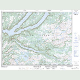 Canadian Topo Map - Little Grand Lake - Map 012A12