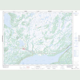 Canadian Topo Map - Buchans - Map 012A15