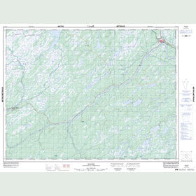 Canadian Topo Map - Badger - Map 012A16