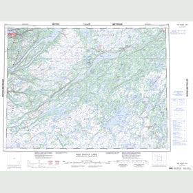 Canadian Topo Map - Red Indian Lake - Map 012A
