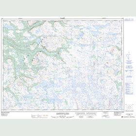 Canadian Topo Map - Dashwoods Pond - Map 012B01