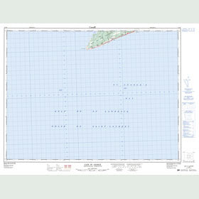 Canadian Topo Map - Cape St. George - Map 012B06