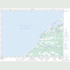 Canadian Topo Map - Flat Bay - Map 012B07