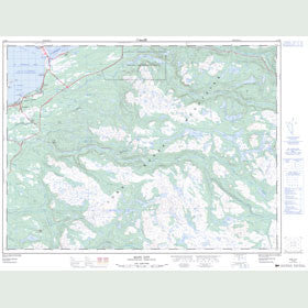 Canadian Topo Map - Main Gut - Map 012B08