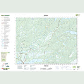 Canadian Topo Map - Harrys River - Map 012B09