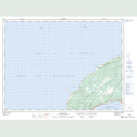 Canadian Topo Map - Mainland - Map 012B11