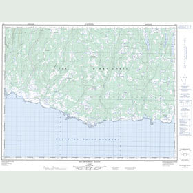 Canadian Topo Map - Escarpement Bagot - Map 012E01