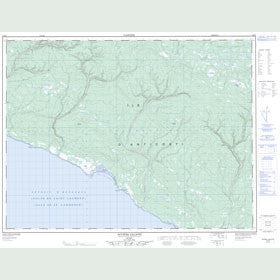 Canadian Topo Map - Rivière Galiote - Map 012E06