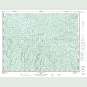 Canadian Topo Map - Lac Rainsford - Map 012E07