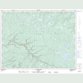 Canadian Topo Map - Lac Wickenden - Map 012E11