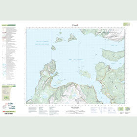 Canadian Topo Map - Bay of Islands - Map 012G01