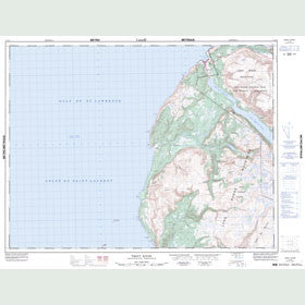 Canadian Topo Map - Trout River - Map 012G08