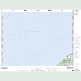 Canadian Topo Map - Skinner Cove - Map 012G09