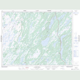 Canadian Topo Map - Dawes Pond - Map 012H01