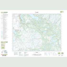 Canadian Topo Map - Lomond - Map 012H05