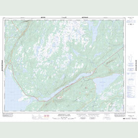 Canadian Topo Map - Sheffield Lake - Map 012H07