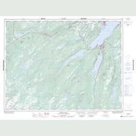 Canadian Topo Map - Springdale - Map 012H08