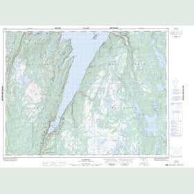 Canadian Topo Map - Hampden - Map 012H10