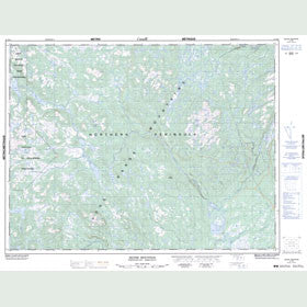 Canadian Topo Map - Silver Mountain - Map 012H11