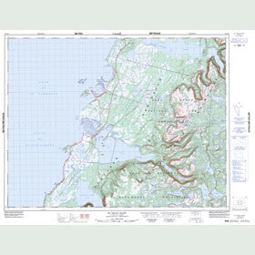 Canadian Topo Map - St. Pauls Inlet - Map 012H13