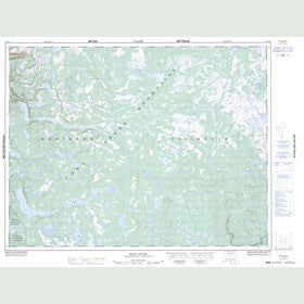 Canadian Topo Map - Main River - Map 012H14