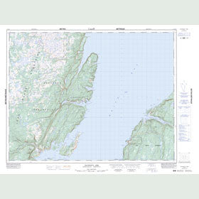 Canadian Topo Map - Jackson's Arm - Map 012H15
